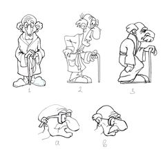 old man cartoon character sketch for my beer brand.  Old Man Ale