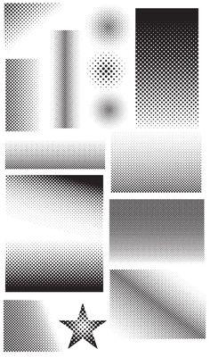 Free Vectors - 28 Halftone Vectors (Clean & Grunge Versions) | Think Design Wall Patterns, Textures Patterns, Glass Film Design, Tool Design, Web Design, Diagram Design, Free Graphics, Computer, Design Tutorials