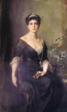 Portrait of Princess Nicholas of Greece, Grand Duchess Helen of Russia by Philip Alexius de Laszlo - Painter of Royalty