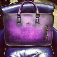 Bag for men. Black Ochidée patina