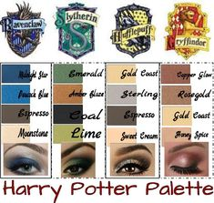 Get your own Harry Potter Palette using Mary Kay Mineral Eye Colors! Go to www.marykay.com/micamunford to order today. Add two more colors to fill a compact and get a discount. Email me for details at micamunford@marykay.com subject Pinterest Harry Potter Palette.