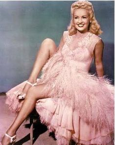Betty Grable, Pink, Feathers ♡ :: Old Hollywood:: Classic Pin Up : Betty Grable