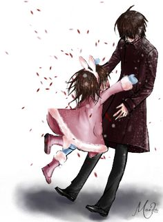 Vampire Knight - Kaname and little Yuuki . Snow by Xewonyan.deviantart.com on @deviantART