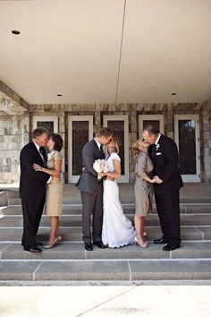Family wedding photos with father / http://www.himisspuff.com/family-wedding-photo-ideas-poses-bridal-must-do/