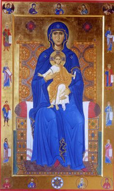 Byzantine Icons, Byzantine Art, Religious Icons, Religious Art, Virgin Mary Painting, Madonna, Russian Icons, Christian Symbols, Divine Mother