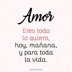 Solo tú amor, solo a ti te necesito en mis días, en mi vida!!! Te amo!!! ❤️