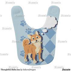 Thoughtful Shiba Inu Bib #dogs #pets #animals #shibainu #puppy