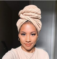 Headwraps - Hair Wraps - Turbans - Head Scarf - Hair Scarf - Head WrapOur fall head wrap collection features the perfect hair accessory. A light weight, solid color, soft woman's head wrap. This head wrap is a extra long and a solid color. Our head w Hair Wrap Scarf, Hair Scarf Styles, Curly Hair Styles, Natural Hair Styles, Scarf Head Wraps, Head Wrap Headband, Natural Hair Twa, Tapered Natural Hair, My Hairstyle