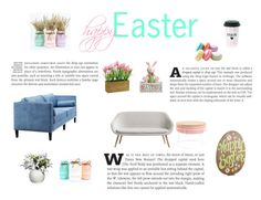 """happy Easter"" by naleland on Polyvore featuring interior, interiors, interior design, dom, home decor, interior decorating, Dot & Bo i Pier 1 Imports"