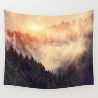 fantastic mountains Wall Tapestry by MehrFarbeimLeben | Society6