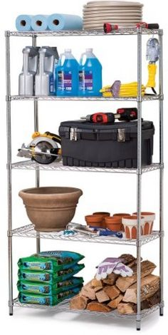 Utility Shelves Walmart Alluring The Whitmore Shelving Is Easy To Assemblethe Rack Also Takes Up Design Ideas