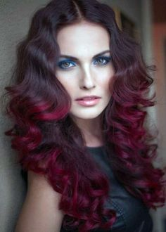 Blood red and Cherry red lust colour over sombre highlights Cruelty free hair colour  #Lusthairnz #phbnz #veganhaircolour