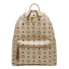 MCM Sale]MCM medium visetos stark backpack beige MMK2AVE01IG ($195) ❤ liked on Polyvore featuring bags, backpacks, mcm, accessories, bolsas, mcm bags, mcm backpack, backpacks bags und rucksack bag