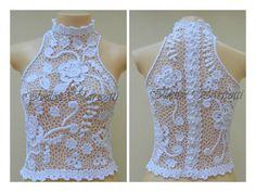 "Ivelise Feito à Mão: Meus Trabalhos: ""Blusa Daiana Em Branco"" Filet Crochet, Irish Crochet, Crochet Blouse, Knit Crochet, Crochet Designs, Crochet Clothes, Embroidery Stitches, Wedding Planning, Knitting"