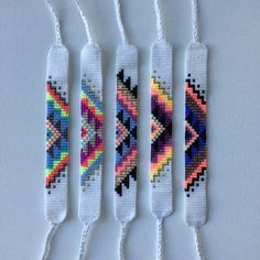 Best Seed Bead Patterns products on Wanelo - # . Best Seed Bead Patterns products on Wanelo Thread Bracelets, Diy Bracelets Easy, Embroidery Bracelets, Bead Loom Bracelets, String Bracelets, Paracord Bracelets, Pandora Bracelets, Seed Bead Patterns, Beaded Jewelry Patterns