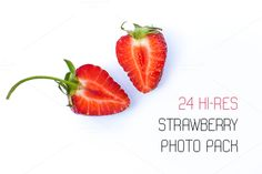24 strawberry photo pack by Knofl store on @creativemarket
