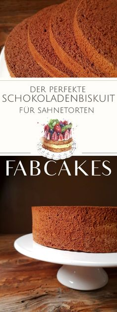 Schokoladenbiskuit – Das Grundrezept Schokoladenbiskuit – Das Grundrezept,Rezepte: Kuchen & Torten Bake the perfect chocolate biscuit for your motif cake, cream cake or fruit cake in just 10 minutes. Step by step I will show you how easy it is! Baking Recipes, Cake Recipes, Dessert Recipes, Food Cakes, Chocolates, Red Wine Gravy, Biscuits, Chocolate Sponge Cake, Pumpkin Spice Cupcakes