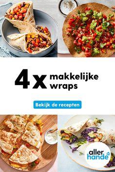 Tostadas, Chana Masala, Quesadilla, Ethnic Recipes, Wraps, Food, Salads, Quesadillas, Essen