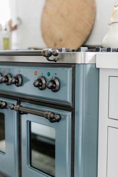 004 Farmhouse Kitchen Interior, Cottage Kitchens, Modern Farmhouse Kitchens, Interior Design Kitchen, Home Kitchens, Coastal Farmhouse, Ilve Range, 48 Range, Kitchen Paint