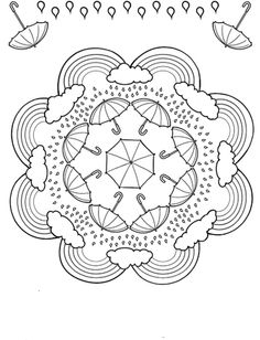 Mandala coloring pages are great for kids! With such a variety of themes and pictures there are sure to be mandalas your kids will want to personalize and design. Mandala Coloring Pages, Coloring Book Pages, Printable Coloring Pages, Coloring Sheets, Coloring Worksheets, Free Coloring, Coloring Pages For Kids, Zentangles, Embroidery Patterns