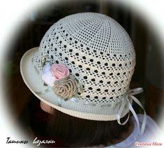 Шляпка с небольшими полями Детский вариант и все схемы: http://www.stranamam.ru/post/11445193/