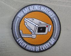 You Are Being Watched Patch by SHESLOSTCONTROLBRAND on Etsy