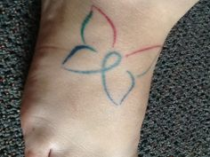 My thyroid disease & thyroid cancer awareness ribbon butterfly tattoo!