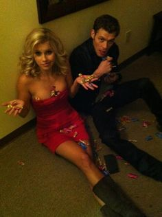 Claire Holt & Joseph Morgan. The Vampire Diaries. They stole all the Jolly Ranchers.