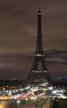 Lights go out around the world for Earth Hour. Here's the Eiffel Tower without lights.