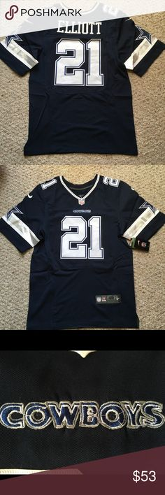 Ezekiel ELLIOTT Dallas Cowboys Men's Jersey 🏈 Read the description please!!! Brand new with tags Dallas Cowboys men's jersey with Ezekiel Elliott with Defect on the chest sign. (picture #3) size Medium(40),Large(44), X-large(48) . Ships same business day! Check out our other jerseys too!!! Nike Other