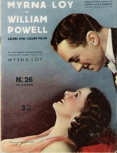 French magazine from 1938. Great pic of Powell and Loy.