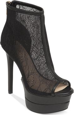 Jessica Simpson Raglinn Lace Platform Booties on shopstyle.com