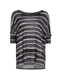 MANGO - Geniş kesim çizgili tişört