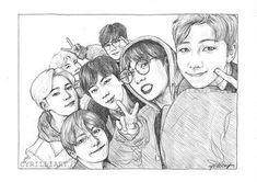 BTS fanart to drawing boys Kpop Drawings, Pencil Art Drawings, Drawing Sketches, Fan Art, Bts Chibi, Korean Art, Kpop Fanart, Beautiful Drawings, Bts Photo