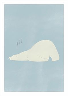 Polar bear poster by OHMYHOME.