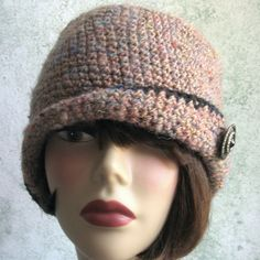 Crochet Pattern Womens FLAPPER HAT Cloche With by kalliedesigns,