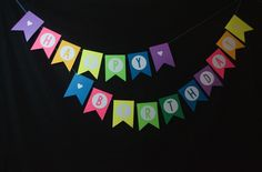 Happy Birthday Banner | Silhouette Banner | Happy 1st Birthday B | Mommy and Me Monday | reallyareyouserious.com