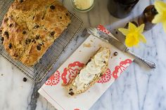 Irish Soda Bread with Whiskey-Soaked Raisins // A Cozy Kitchen