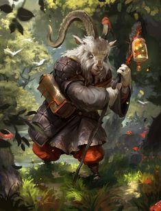 goat messenger, Alexander Puchkov on ArtStation at https://www.artstation.com/artwork/zmJVL