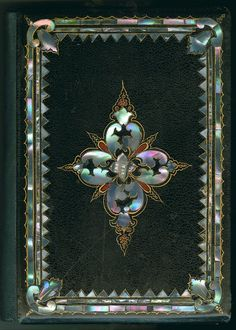 "The Iridescent Elegance of Victorian Mother-of-Pearl Book Bindings ""The Keepsake: A Gift for the Holidays"" (New York: J.C. Riker, 1853) (via Library Company Conservation Dept.)"