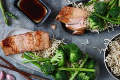 Salmon teriyaki - Chickslovefood - Do you like easy, responsible and fish? Then you are all right with this Skinny Six! Nice and full - I Love Food, A Food, Teriyaki Salmon, Green Bean Recipes, Blueberry Recipes, Oatmeal Recipes, Clean Eating, Dinner Recipes, Pork