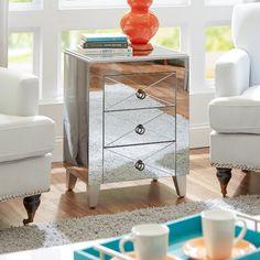 Genial Castleton Home Tory Mirrored Side Table U0026amp; Reviews | Wayfair Mirrored  Furniture, Mirrored Nightstand