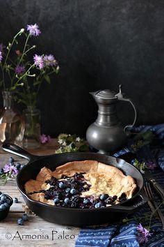 Blueberry Dutch Baby - Pancake Olandese ai Mirtilli