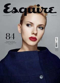 Scarlett Johansson on Esquire magazine [Russia] January American actress and singer Scarlett Johansson get another cover page of a fashion magazine this time for 'Esquire' [Russia] January 2013 issue. Paper Magazine, Cool Magazine, Elle Magazine, Magazine Art, Fashion Magazine Cover, Fashion Cover, Magazine Cover Design, Magazine Covers, Gq