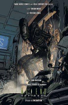 Aliens: Defiance 6 (Dark Horse Comics) // Art by Tristan Jones