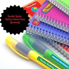 Lovable Labels - Back to School Packs Giveaway! Win 1 of 2 Back to School Packs! School Pack, Do It Right, Masking Tape, Sharpie, Giveaways, Planners, Back To School, Packing, Bullet Journal