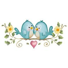 Bird Drawings, Cute Drawings, Watercolor Bird, Watercolor Paintings, Decoration Creche, Cute Animal Illustration, Stencil, Decoupage Paper, Cute Birds