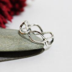 Twist ring/ Everyday ring/ Sterling silver simple ring/ Oxidized Twist Ring by rosajuri on Etsy https://www.etsy.com/listing/178883251/twist-ring-everyday-ring-sterling-silver
