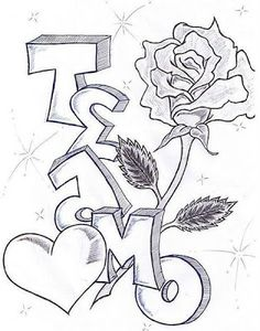 im in love with a gangster pictures Graffiti Alphabet, Graffiti Lettering, Music Drawings, Pencil Art Drawings, Art Drawings Sketches, Easy Love Drawings, Cute Drawings, Alfabeto Graffiti, Drawings For Boyfriend