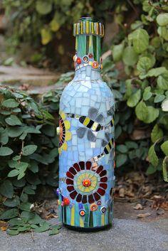 Bee Bottle 2 | Flickr - Photo Sharing! Mosaic wine bottle